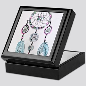 Watercolor Dreamcatcher Keepsake Box